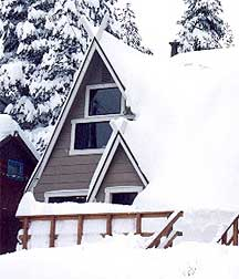 South Bay Ski Club Cabin in Winter